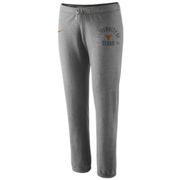 Nike Texas Longhorns Ladies Rally Fleece Pants - Ash