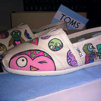 Romero Britto Inspired Penguin TOMS By MOPS