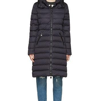 Moncler Navy Quilted Down Moka Coat