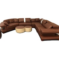 Genuine leather living room sofa furniture with modern corner leather sofas u shaped sofa