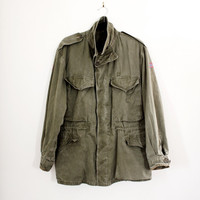 Vintage Norwegian Army Military Jacket - Men's Army Field Jacket - Size Large