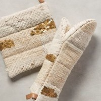 All Roads Design Sequinstitch Potholders in Neutral Size: