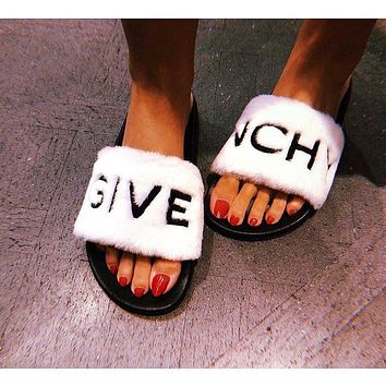 Givenchy Sandals In Shearling-1