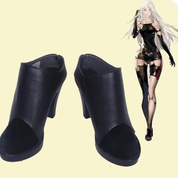 Tsuki NieR Automata  Costume military princess Halloween cosplay hero high heel women lolita party boots shoes