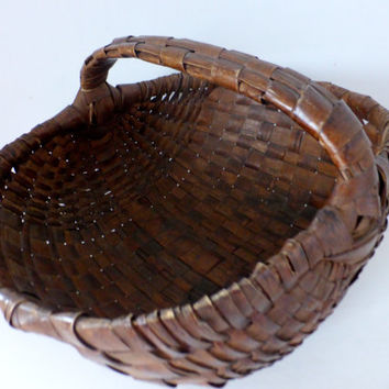 Antique French, Reed Basket