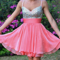 straps sequined sleeveless dress