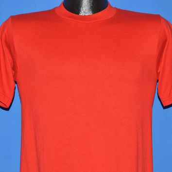 80s Red JERZEES Heavy Blank t-shirt Small