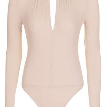 PETITE Long Sleeve Keyhole Body - Tops - Clothing