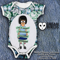 Tina's quote Im a smart strong and sensual woman Baby Onesuit, Fullprint Onesuit Bodysuit