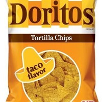 Doritos Tortilla Chips, Taco Flavor, 12oz Bag (Pack of 3)