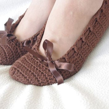 Wedding Dance shoes slippers  chocolate brown   Bridal Party Bridesmaid
