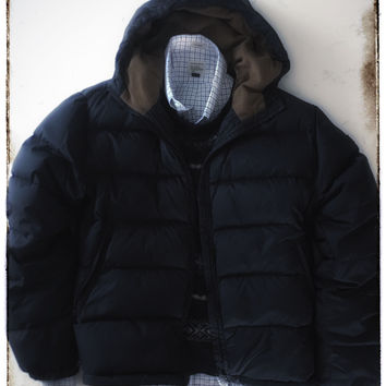 Men's Pre-Owned Napapijri Hooded Down Jacket - Size Large