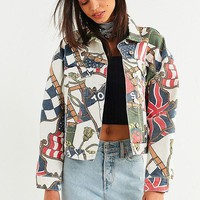 Tommy Jeans '90s Flag Print Denim Jacket