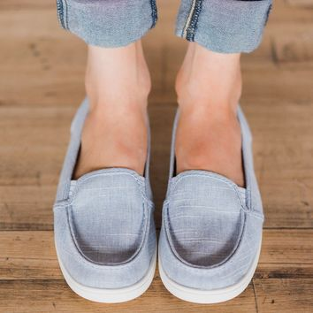 Mackerel Slip On Shoes - Denim