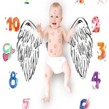 Baby Monthly Milestone First Year Baby Milestone Backdrop Blanket  Photo Prop - CC409