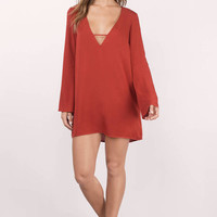 Whitney Bell Sleeve Shift Dress