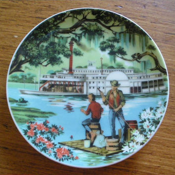 Vintage Avon American Portraits Plate The South CLEARANCE