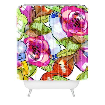 CayenaBlanca Fantasy Garden Shower Curtain