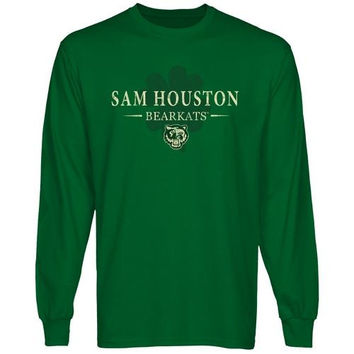 Sam Houston State Bearkats St. Paddy's Long Sleeve T-Shirt - Green