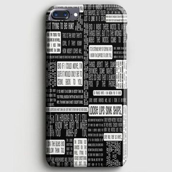 Fall Out Boy Logo Quotes iPhone 8 Plus Case | casescraft