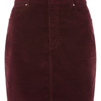 MOTO Velvet Mini Skirt | Topshop