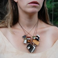 Autumnal library book necklace 11 antique and by TheBlackSpotBooks