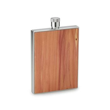 Cedar Wood Flask with Funnel | wood flask, modern flask