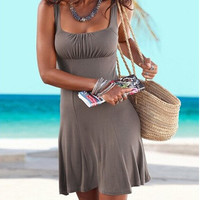 Casual Sleeveless Mini Dress