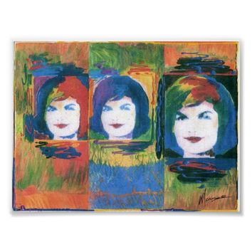 3 Jackie Kennedy painting Posters