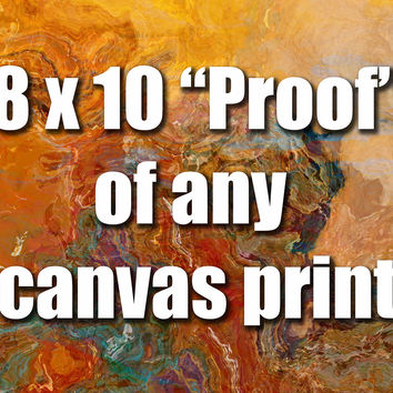8x10 inch unstretched canvas print for color proofing