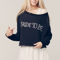 BRIDE TO BE CROP SWEATER