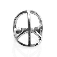 Metal Peace Sign Ring