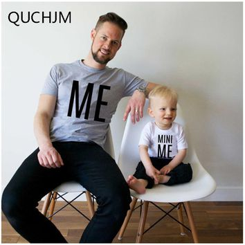 Family Matching Outfits New Family Look Summer ME and MINI ME Pattern Family Men Boy t-shirt Father and Son Clothes Top clothes
