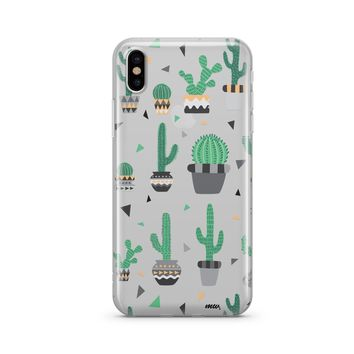 Cactus Party - Clear TPU Case Cover