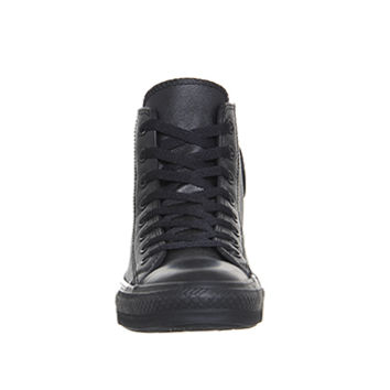 Converse All Star Hi Leather Black Mono - Unisex Sports