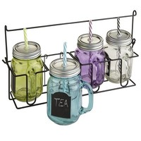 Mason Jar Tumbler Set & Carrier