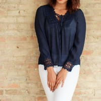 Idina Top - Navy