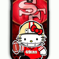 Samsung Galaxy S4 Case - Hard (PC) Cover with 49ers Hello Kitty Plastic Case Design