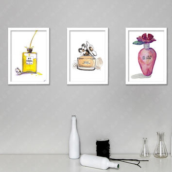 Canvas Art wall painting Calligraphy Fashionable wall picture Original perfume bottle Modern Canvas prints for home office decor