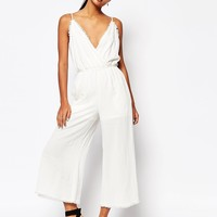 Moon River Raw Edged Jumpsuit at asos.com