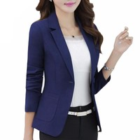 Elegant Blazers for Women Ladies Blazer Blazer Jacket Blue Blazer Jacket Coat