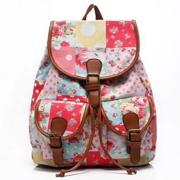 ONETOW Day-First? Cute Sweet Travelling Bag College School Bag Canvas Backpack Daypack