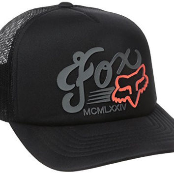 Fox Junior's Transitory Trucker Hat, Black, One Size