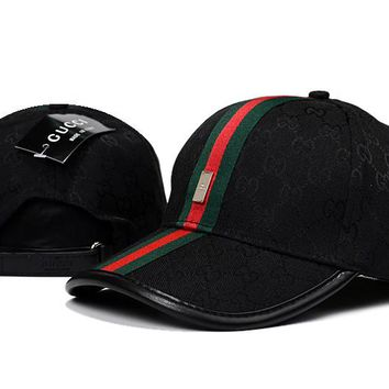 GUCCI Women Men Embroidery Adjustable Travel Hat Sport Cap