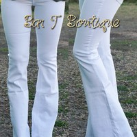 Urban White Flare Jeans