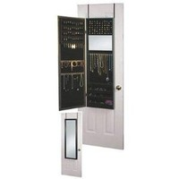 Plaza Astoria Wall/Door-Mount Jewelry Armoire, Black