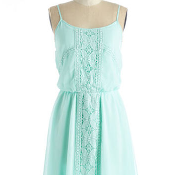 ModCloth Pastel Mid-length Spaghetti Straps A-line Cheer or Far Dress