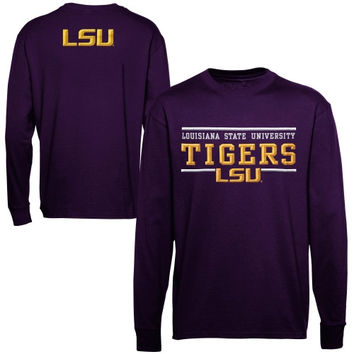 Majestic LSU Tigers Lasting Strength Long Sleeve T-Shirt - Purple