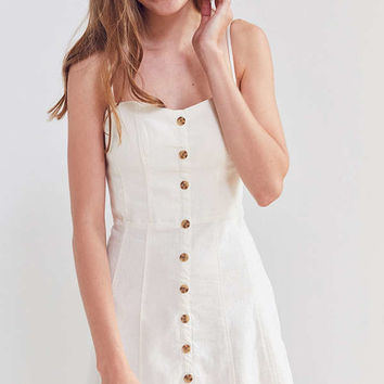 Kimchi Blue Lilyanna Linen Button-Down Dress | Urban Outfitters
