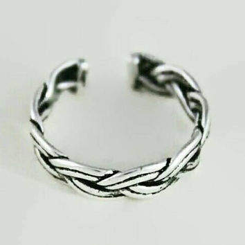 Sterling Silver Ring,Stackable Ring,Braided Ring,Rope Ring,Minimal Ring,Statement Ring,Bridesmaid Gift